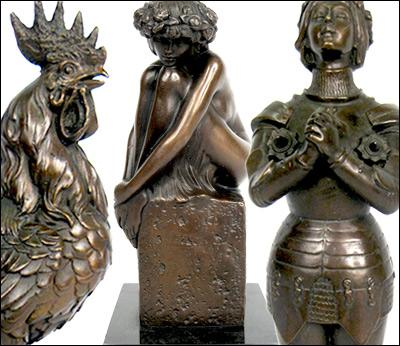 Bronze Hot Cast Figurines