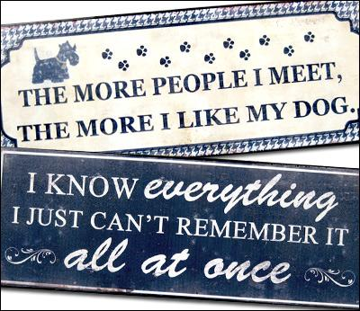Metal Signs / Plaques / Hooks