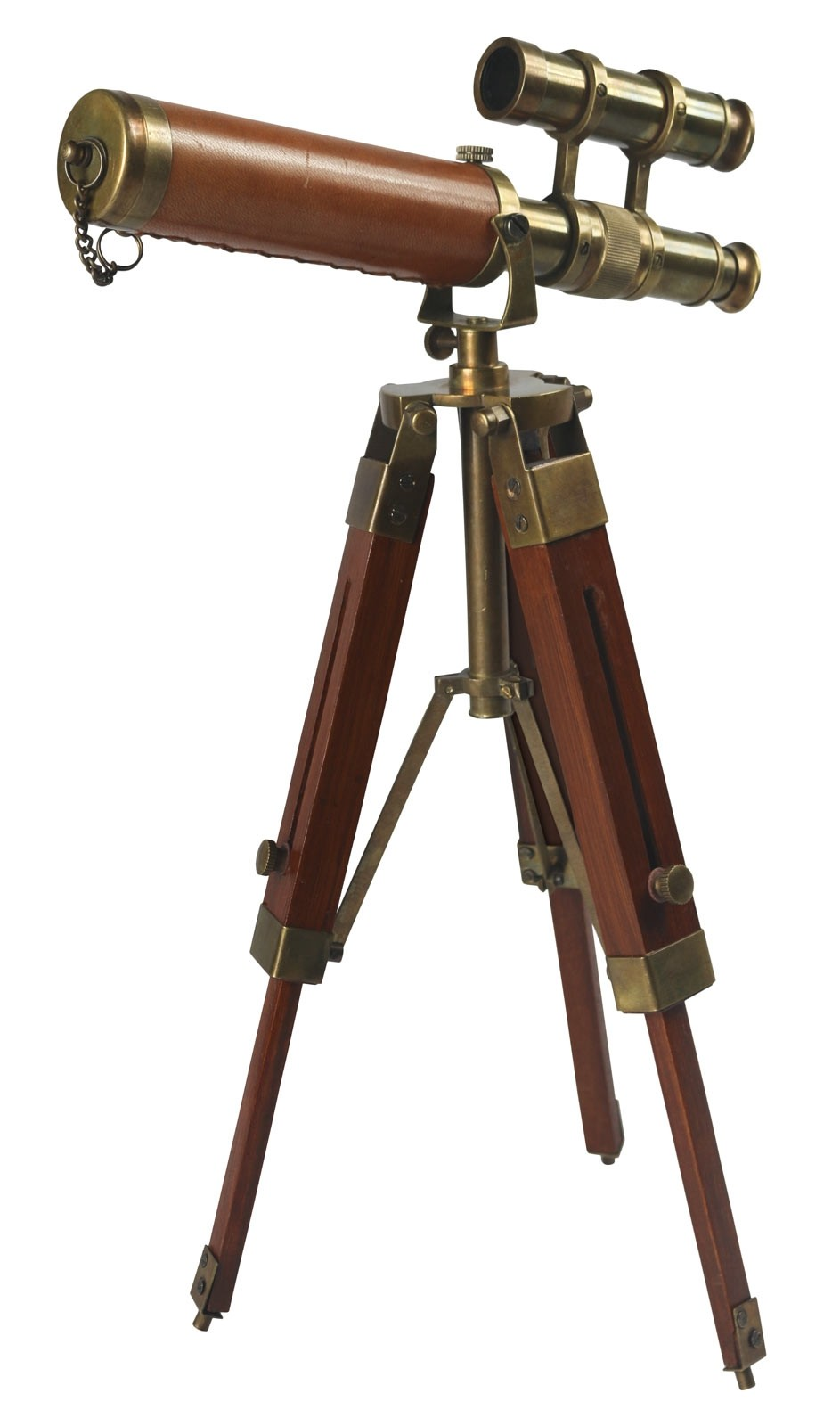 Telescope on Wooden Tripod