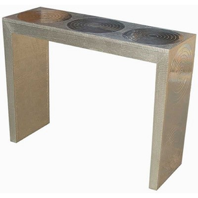 Circle Metal Overlay Console Table