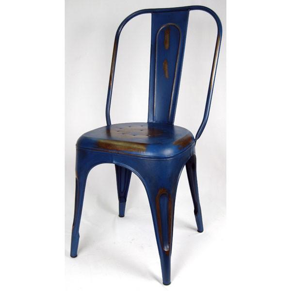 Industrial Metal Chair Blue