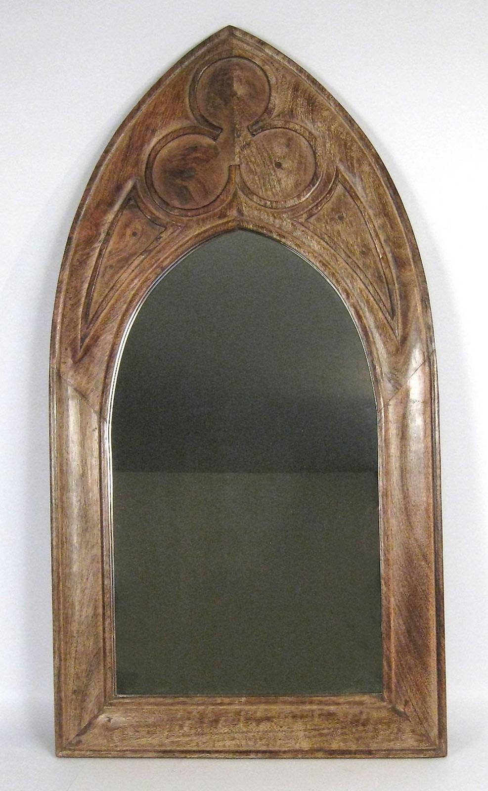 Mango Wood Gothic Mirror (Large)