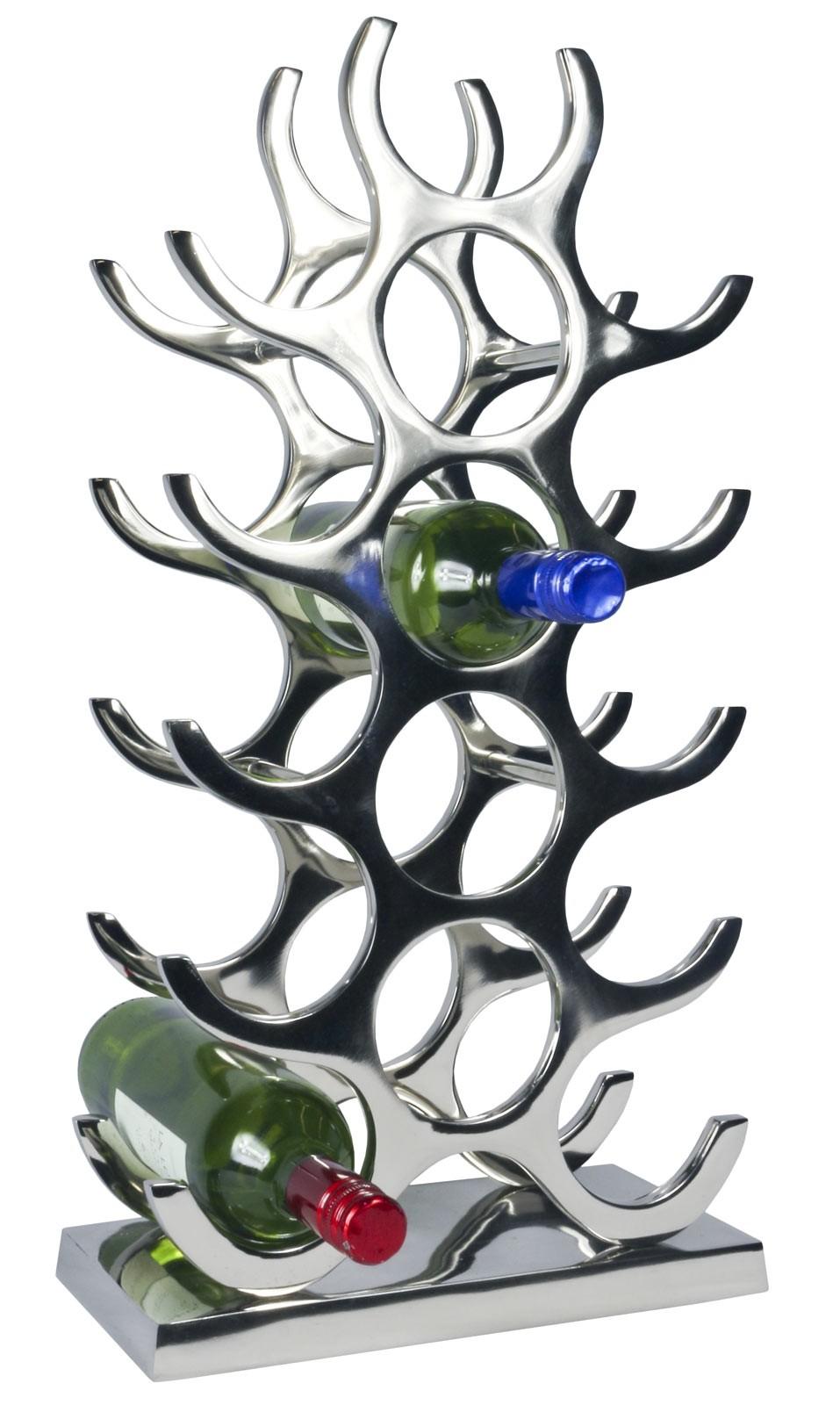 15 Bottle Wine Holder - Aluminium / Nickel Finish
