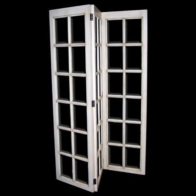 Paravent Hollanddais XVIII 3 Door Full Glass (White)