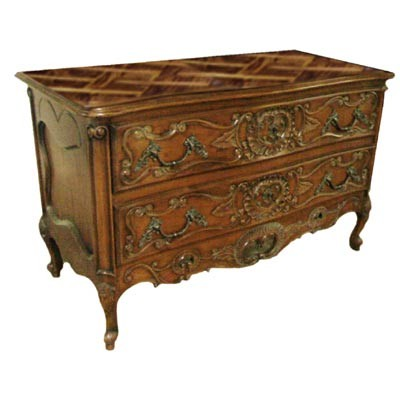 Regency Commode with Parquet Top