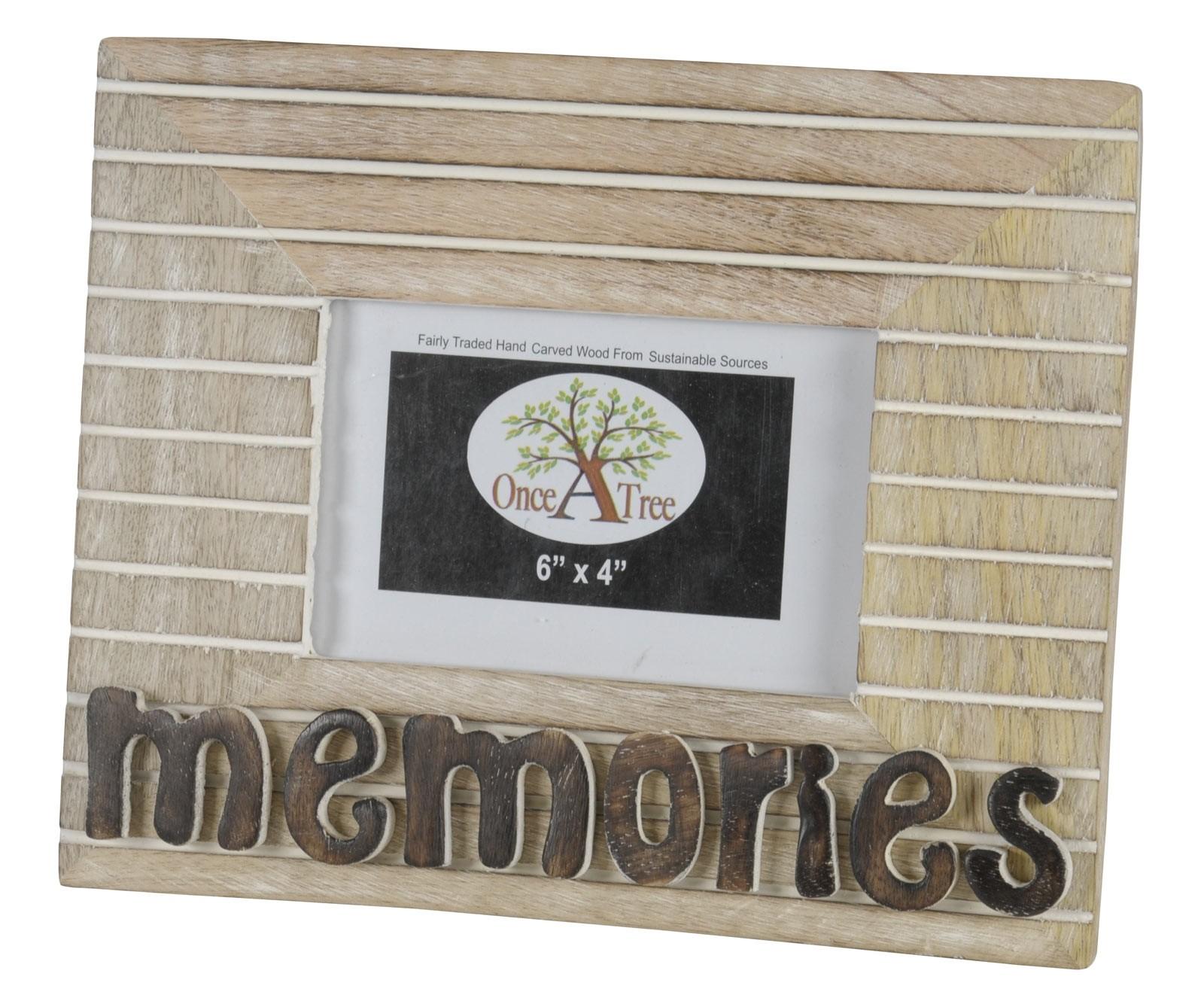 Mango Wood Memories Photo Frame