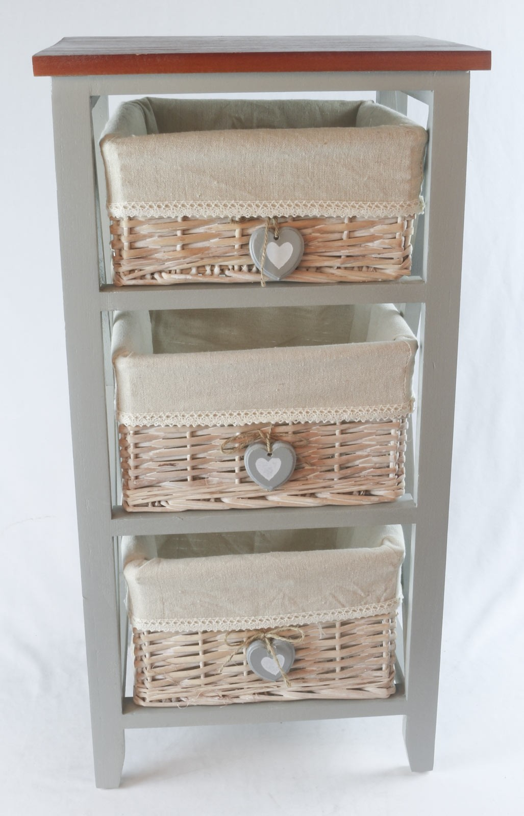 3 Basket Chest with hearts