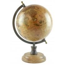 Medium Globe On Wooden Base Dia 20cm *SECONDS*