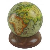 Globe On Wooden Base 10cm