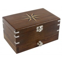 Wooden Star Design Jewellery Box