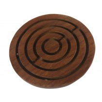 10cm Labyrinth Game - Sheesham