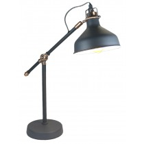 Desk Lamp Matt Charcoal Grey - Copper Effect (Bulbs not included)
