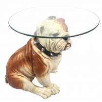 Bulldog Table with Glass Top