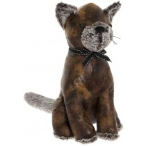 Faux Leather Cat Doorstop - 34cm  (Case Price For Case Qty Only)