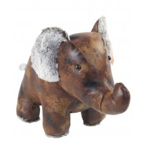 Faux Leather Elephant Doorstop - 44cm (Case Price For Case Qty Only)