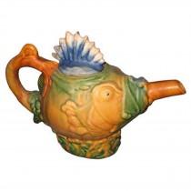 Majolica Fish Teapot