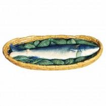 Majolica Oval Fish Plaque