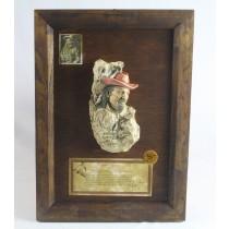 Wooden Framed Buffalo Bill Cody Wall Plaque (Min 2)