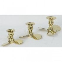 Set of 3 Propeller Candle Stick Holders