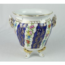 BLUE  2 HANDLED POT-N 21CM
