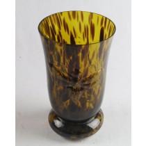 Tiger Vase Glass Dragonfly Design