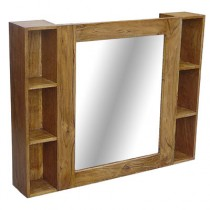 Acacia Mirror (Plain) with Shelves