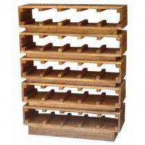 Acacia 30 Bottle Rack (Light Stain)