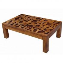 Acacia Lisbon Alphabet Coffee Table