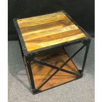 Acacia Industrial Side Table