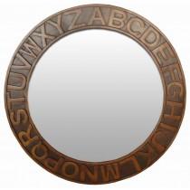 Acacia Lisbon Alphabet Mirror
