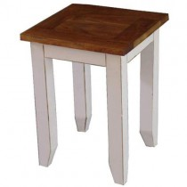 Acacia Lisbon Lamp Table WHITE