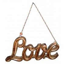 Mango Wood Love Wall Decoration
