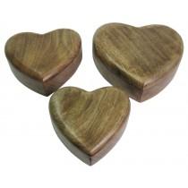 Plain Heart Shaped Boxes Set Of 3