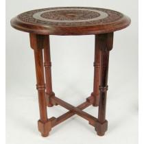Carved Cross Leg Table