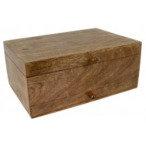 Mango Wood Large Plain Vanity Box