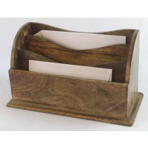 Mango Wood Large Plain Letter Rack