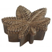 Mango Wood Leaf Shaped Box