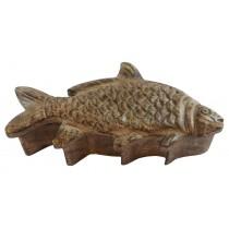 Mango Wood Fish Carp Box