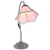 Dark Antique Finish - Single Pink Petal Shade Lamp  - 49cm