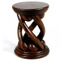 Wooden Open Twist Plant Stand