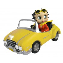 Betty Boop In Yellow Sports Car **