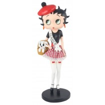 Betty Boop In French Costume  ** With Fabric Checked Skirt **
