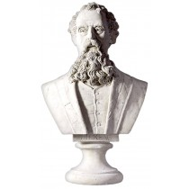 Charles Dickens Bust - Roman Stone Finish