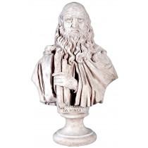 Da Vinci Bust - Roman Stone Finish - 77.5cm