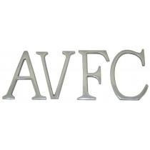 Aluminium AVFC Letters 6