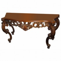 Console Hand Carved - Mahogany