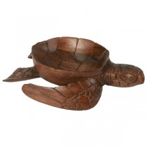 Wooden Turtle Walking Bowl 25cm