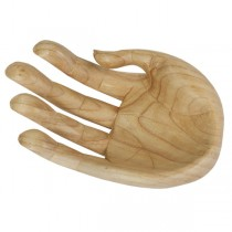 Wooden Hand Bowl Natural Finish