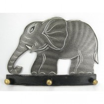 Wooden Painted Elephant Hanger