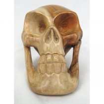 Wooden Skull 15cm